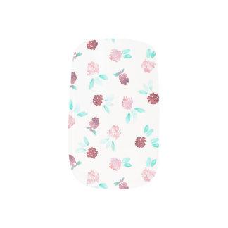 Clover Flowers Minx Nail Art