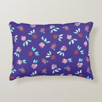 Clover Flowers Polyester Accent Pillow