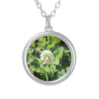 Clover & Flowers Pt 2 Silver Plated Necklace