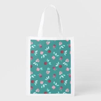 Clover Flowers Reusable Bag
