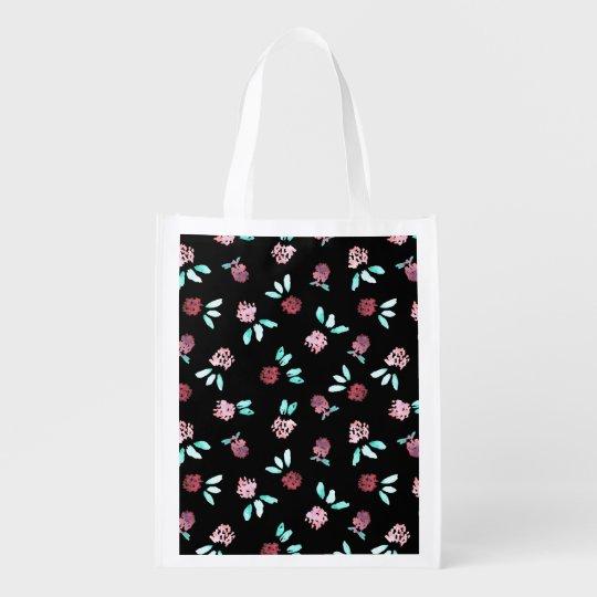 Clover Flowers Reusable Bag Market Tote