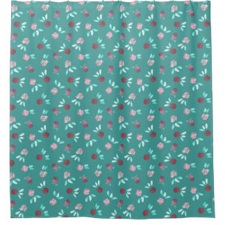 Clover Flowers Shower Curtain