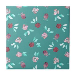 Clover Flowers Small Ceramic Tile