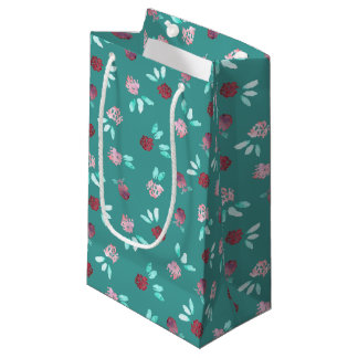 Clover Flowers Small Glossy Gift Bag