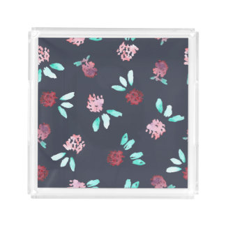 Clover Flowers Small Square Tray