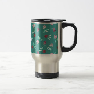 Clover Flowers Travel Mug