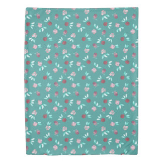 Clover Flowers Twin Size Duvet Cover