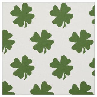Clover Green Shamrock Lucky Four Leaf Fabric