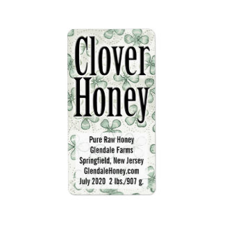 Clover Honey 5-line Personalized
