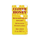 Clover Honeycomb Honey Jar Label