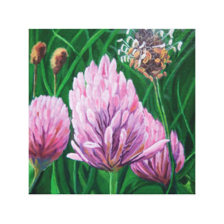 Clover in the Meadow Canvas Print