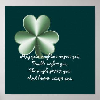Clover - Irish Proverb Print