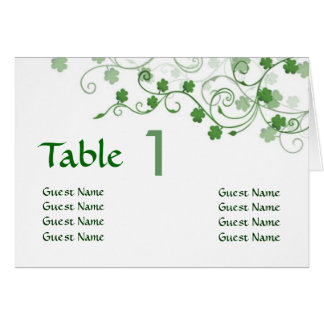 Clover Irish Table Place card