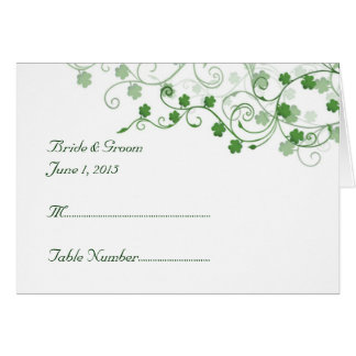 Clover Irish Tent Place Card