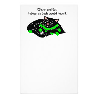 Clover is Lucky write it down ©Daley Stationery Design