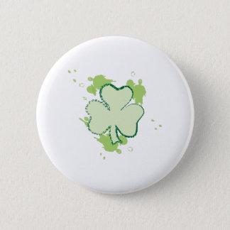 Clover Leaf 2 Inch Round Button