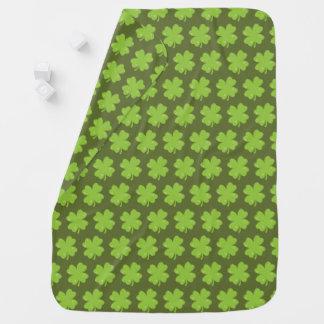 Clover Leaf Illustration Baby Blanket