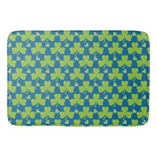 Clover Leaf Illustration Bath Mat