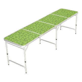Clover Leaf Illustration Beer Pong Table