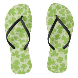 Clover Leaf Illustration Flip Flops