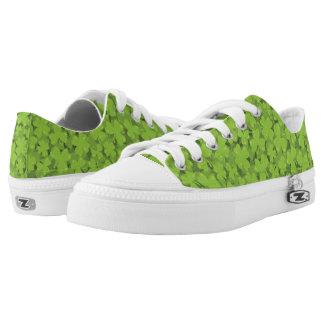 Clover Leaf Illustration Low-Top Sneakers