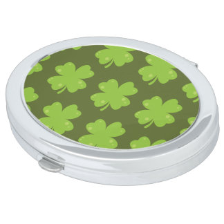 Clover Leaf Illustration Makeup Mirror