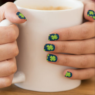 Clover Leaf Illustration Minx Nail Art