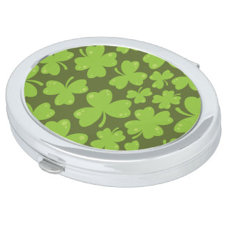 Clover Leaf Illustration Mirror For Makeup