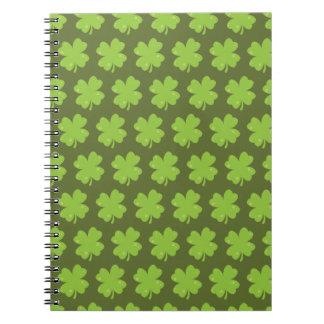 Clover Leaf Illustration Notebook