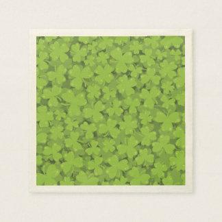Clover Leaf Illustration Paper Napkin