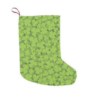 Clover Leaf Illustration Small Christmas Stocking