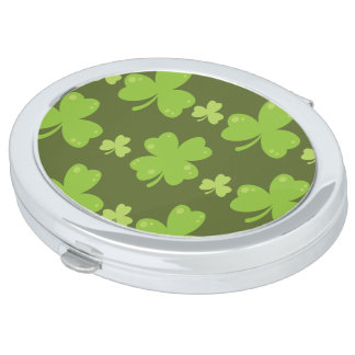 Clover Leaf Illustration Vanity Mirror
