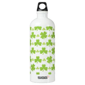 Clover Leaf Illustration Water Bottle