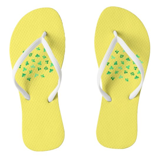 Clover Leaves Adult Slim Straps Flip Flops