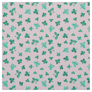 Clover Leaves Cotton Twill Fabric