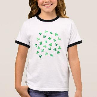 Clover Leaves Girls' Ringer T-Shirt