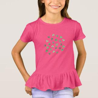 Clover Leaves Girls' Ruffle T-Shirt