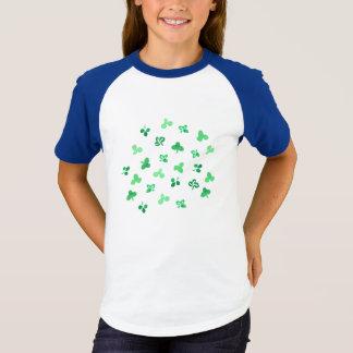 Clover Leaves Girls' Short Sleeve Raglan T-Shirt