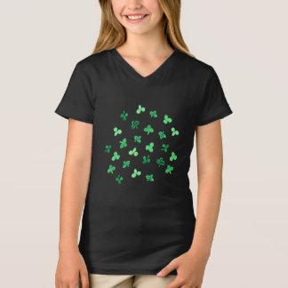 Clover Leaves Girls' V-Neck T-Shirt
