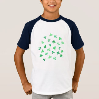 Clover Leaves Kids' Short Sleeve Raglan T-Shirt