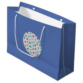 Clover Leaves Large Glossy Gift Bag