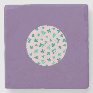 Clover Leaves Marble Stone Coaster