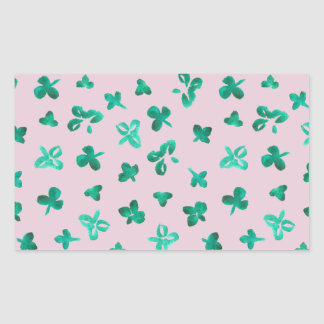 Clover Leaves Matte Rectangle Sticker