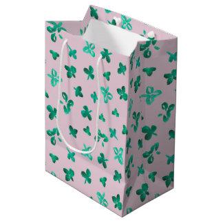 Clover Leaves Medium Glossy Gift Bag