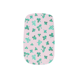 Clover Leaves Minx Nail Art