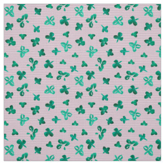 Clover Leaves Polyester Poplin Fabric