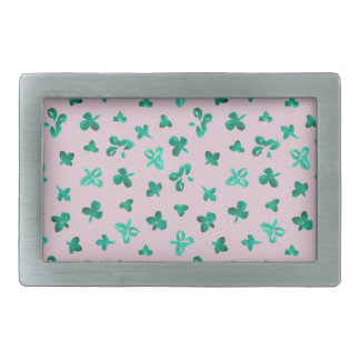 Clover Leaves Rectangle Belt Buckle