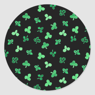 Clover Leaves Small Glossy Round Sticker