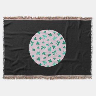 Clover Leaves Throw Blanket