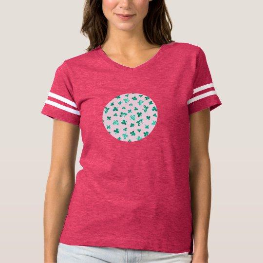 Clover Leaves Women's Football T-Shirt